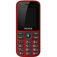 Peace P4 Feature Mobile Phone-Red+Black (Dual SIM/ 850