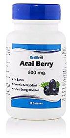 Healthvit Pure Acai Berry 500 Mg 60 Capsules