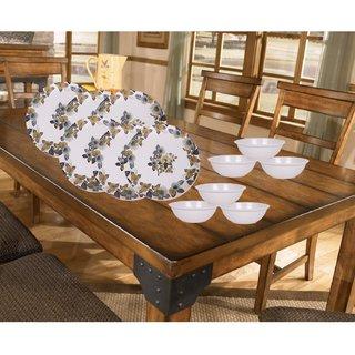 PALMS Khushi Dinner set Pack of 12 Printed Plates & Veg Bowl High Quality Melamine- (Food grade safe Stain proof)