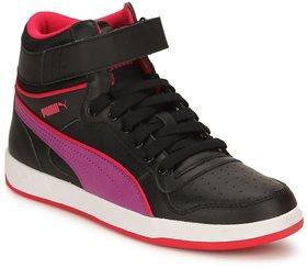 Puma Puma Liza Mid Jr Black-purple Women's Casual Shoes