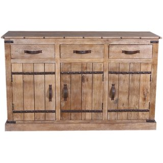 Jaitex Exports Brown Color Antique Wooden Side Board With 3 Drawers And 3 Shelfs 6 Boxes