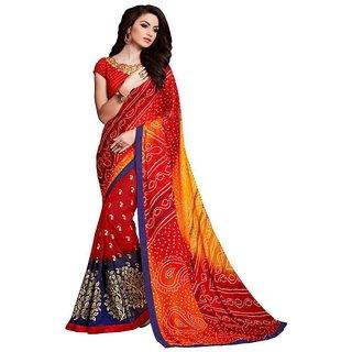 8bd4a1f8cf6 Buy Zofey Bollywood Designer Sarees Multicoloured Georgette Saree ...
