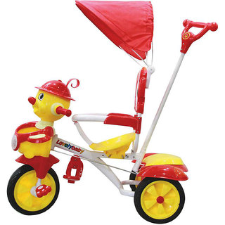 EZ' PLAYMATES JOKER FACE TRICYCLE YELLOW