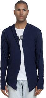 PAUSE Men's Navy Hooded Sweatshirt