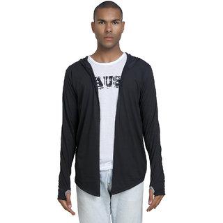 PAUSE Mens Black Hooded Sweatshirt