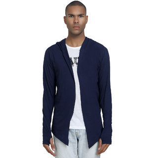 PAUSE Men's Navy Hooded Sweatshirt
