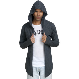 PAUSE Men's Grey Hooded Sweatshirt