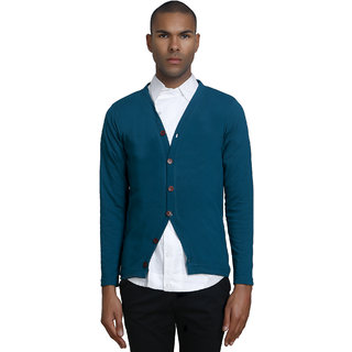 PAUSE Men's Turquoise Hooded Sweatshirt