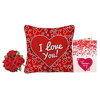 Buy sky trends red heart i love you valentine day gift greeting card sky trends red heart i love you valentine day gift greeting card with artificial red rose m4hsunfo