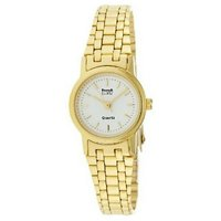 HWT White Dial Round Gold Metal Analog Watch For Women