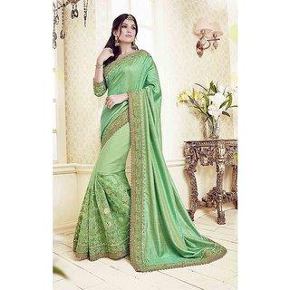 89685e9aa Buy SareeShop Designer SareeS Green Silk Saree Online   ₹1399 from ...