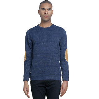 PAUSE Men's Blue Hooded Sweatshirt