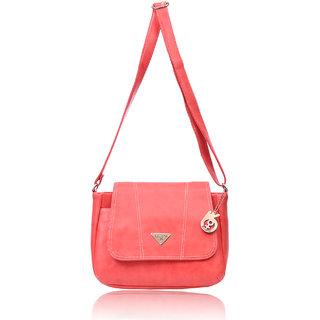 Belizza Women's Clover Peach Sling bag