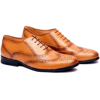 Buy Adam Hoof Mens Tan Color Lace Up Genuine Leather Formal Shoes