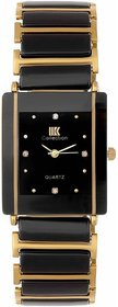 IIK HRV Collection Gold Black Square Best Designing Stylist Professional Analog Watch For Men,Boys