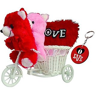 Sky Trends Romantic Valentine Cute Kissing Teddy Love Couple Trolly Cycle With Cute Valentine Gifts For Girlfriend Wife Anniversary Birthday STGT003