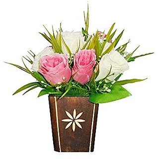 Sky Trends Artificial Flower Pot For Home Decoration Style Cod020
