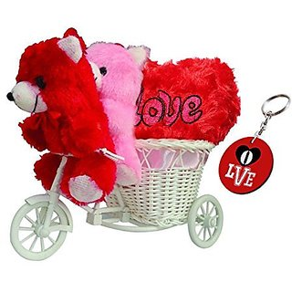 Sky Trends Romantic Valentine Cute Kissing Teddy Love Couple Trolly Cycle With Cute Valentine Gifts For Girlfriend Wife Anniversary Birthday STGT001