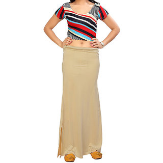 Aika Women's Sarina(Lycra) Readymade Petticoat (FreeCream)Pe-65 P-Coat Cream