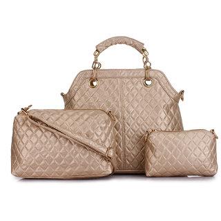07b26915b16d Buy Zornna Stylish Golden Handbag Online - Get 30% Off