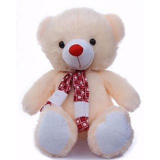 Mable Premium Quality Big Face Butter Cute Teddy Soft Toy Plush Stuffed Bear  Kids Birthday Gift With Scarf (70 CM)   2.5 Feet Long