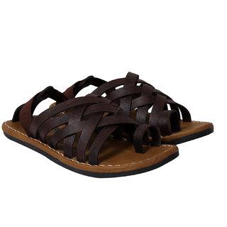 Metmo Men's Brown Multisrape sandal