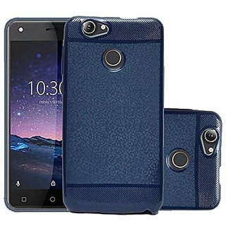 size 40 2d6a8 8dce2 ECS Soft Back Case Cover With Camera protection For Infocus Snap 4 - Dark  Blue
