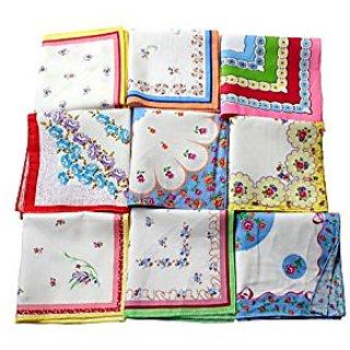 Ladies Handkerchief Set Of 12 Pcs