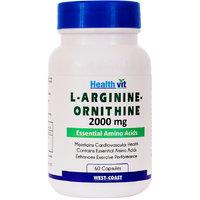 Healthvit L-Arginine-Ornithine 2000 Mg 60 Capsules