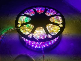 Snap light 5 Meter Waterproof LED Rope Light - Multicolor With Blinking Adapter