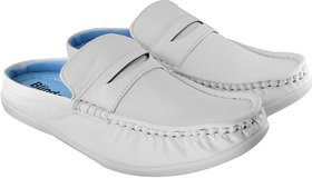 Blinder  Men's Pure White Casual Slip On Sneakers Mocas