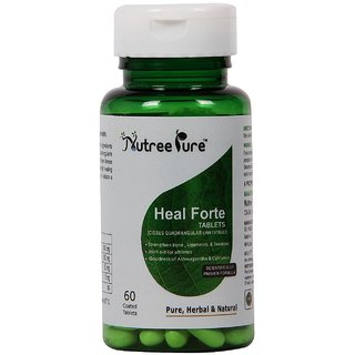 Nutree Pure Heal Forte -60 tablets( Cissus quadrangularis linn extract ) for fracture healing  bone strengthenPack of2