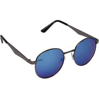 Aligatorr Stylish Black Blue Mercury Round CHCE UV400 Sunglass