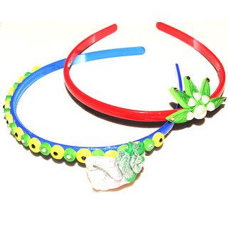 Designer handmade multicolor Hairbands combo set of 6 by Vidyawati