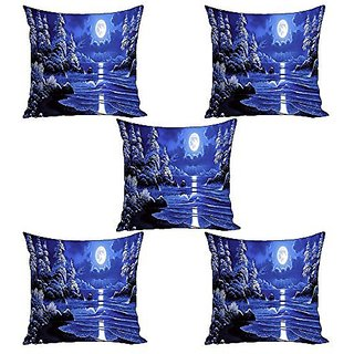 Sky Trends Cushion Cover Gift(Set Of 5, 12x12 Inchs)Gift For DiwaliBirthday GiftFamily Gift SetGift For ChildrensHome Decoration Gift St-25