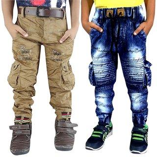 AD & AV BOYS COMBO JOGGER JEANS OR NEW KHAKHI CARGO