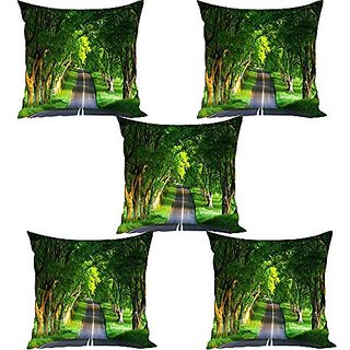 Sky Trends Cushion Cover Gift(Set Of 5, 12x12 Inchs)Gift For DiwaliBirthday GiftFamily Gift SetGift For ChildrensHome Decoration Gift St-01