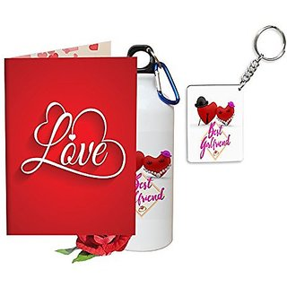 Sky Trends Valentine Gifts Rose With Greeting Card Girlfriend Boyfreind Wife Husband Fiance Message Printed For Propose DayHug Day