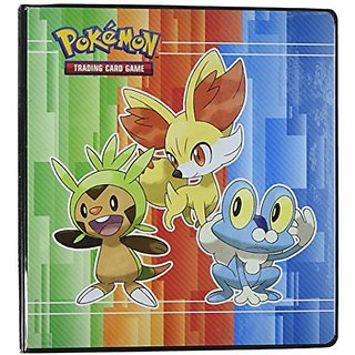 Pokemon X & Y 3-Ring Binder with 25 Platinum Ultra-Pro 9-Pocket Pages (Chespin, Fennekin and Froakie