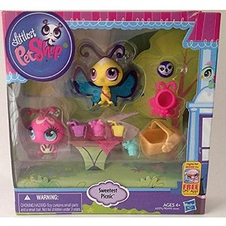 Littlest Pet Shop Sweetest Picnic Ladybug #3287& Butterfly #3286 with Koala 3288