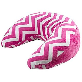 Ozark Mountain Kids Nursing Pillow - 100% Cotton Chenille - Multipurpose, Machine Washable - Hot Pink Chevron