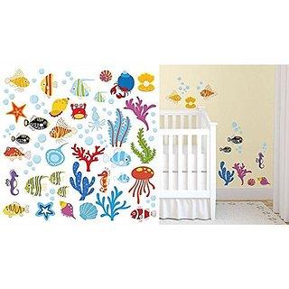 Sea Aquarium Nursery Wall Sticker Decals for Boys & Girls