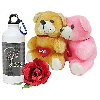 Sky Trends Best Valentine Surprise Gifts Couple Teddy Gifts with Printed Mug and Rose Propose Day Gifts, Rose Day Gifts Wife Gifts, Girlfriend Gifts,Husband Gifts,Boyfriend Gifts Anniversary Gifts DS206