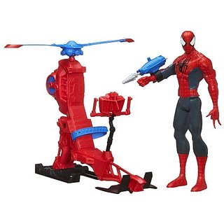 Marvel Ultimate Spiderman With Web Copter