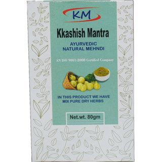 Kkashish Mantra Ayurvedic Henna With Amla Shikakai Pure Extract Herbs All Types Hair Solution (80G) (Pack Of 1)