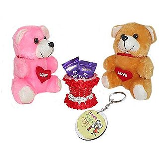 Sky Trends Valentine Gift For Wife Printed Keychain Soft Teddys Artificial Basket Sweet Chocolate Best Gift For Chocolate day Kiss Day Propose day Promise Day Hug Day Rose Day Gifts