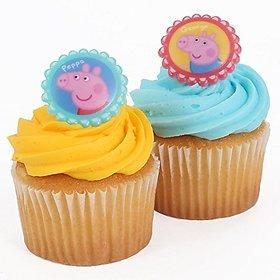 Peppa Pig Cupcake Rings - Pack Of 12