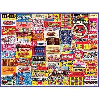 White Mountain Puzzles Vintage Candy Wrappers - 300 Piece Jigsaw Puzzle
