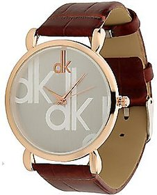 DK Round Dail Brown Other StrapMens Mechanical Watch For Men