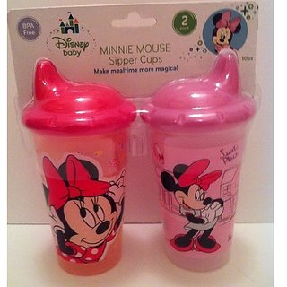 Disney Minnie Mouse 2-Pack Sipper Cups (10 oz.) BPA FREE